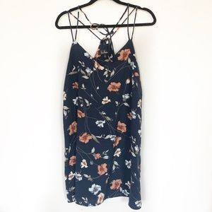 Lulu's Floral Strappy Dress Size Small